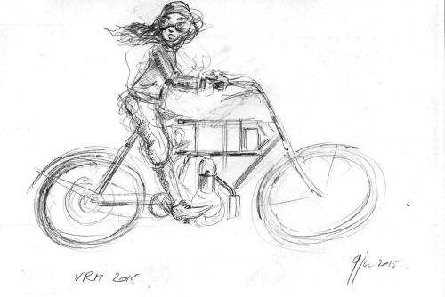 vrm 2015, croquis, dessin, motos