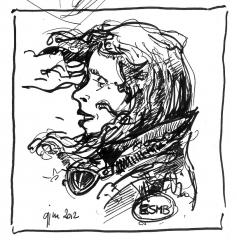 dessin, ESMB,moto